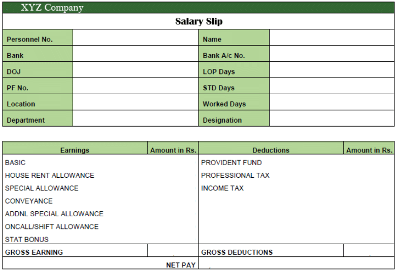 What Is A Salary Slip Or Pay Slip? Difference Between ...