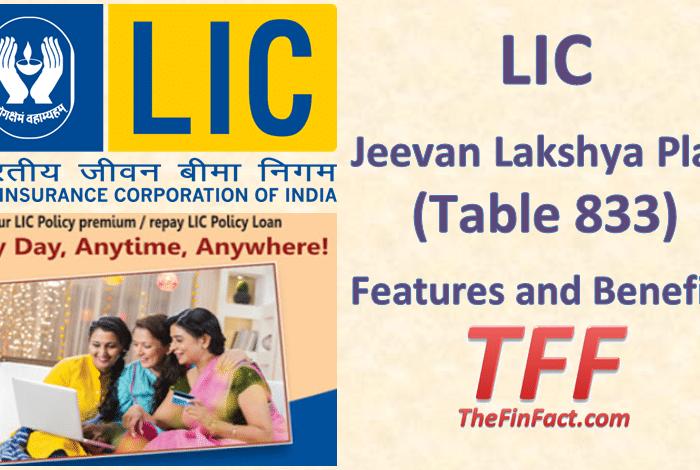 LIC Jeevan Lakshya Plan Table 833